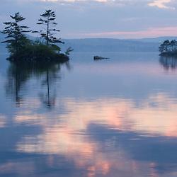 Dawn on Lake Winnepesauke.  Moultonboro Neck, Moultonboro, NH.
