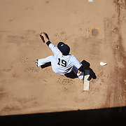 Masahiro Tanaka, New York Yankees, warming up in the bull pen before the the New York Yankees V Tampa Bay Rays, Major League Baseball game at Yankee Stadium, The Bronx, New York. 3rd May 2014. Photo Tim Clayton