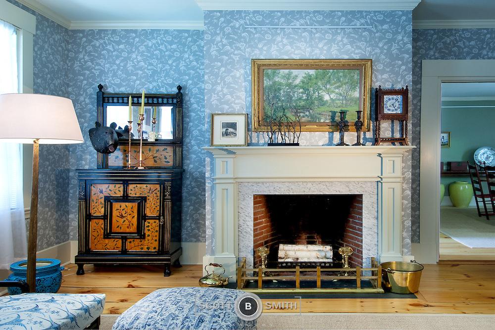 Interior design elements documented for Phelps Architecture, Damariscotta Maine.