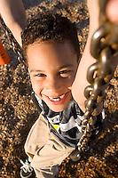 Alex Farina playing in playground in Sacramento, CA.<br />