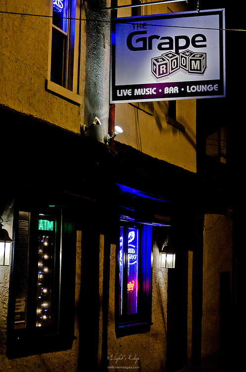 The outside of The Grape Room in Manayunk, PA.