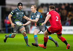 Luke Price of Ospreys<br /> <br /> Photographer Simon King/Replay Images<br /> <br /> European Rugby Champions Cup Round 5 - Ospreys v Saracens - Saturday 11th January 2020 - Liberty Stadium - Swansea<br /> <br /> World Copyright © Replay Images . All rights reserved. info@replayimages.co.uk - http://replayimages.co.uk