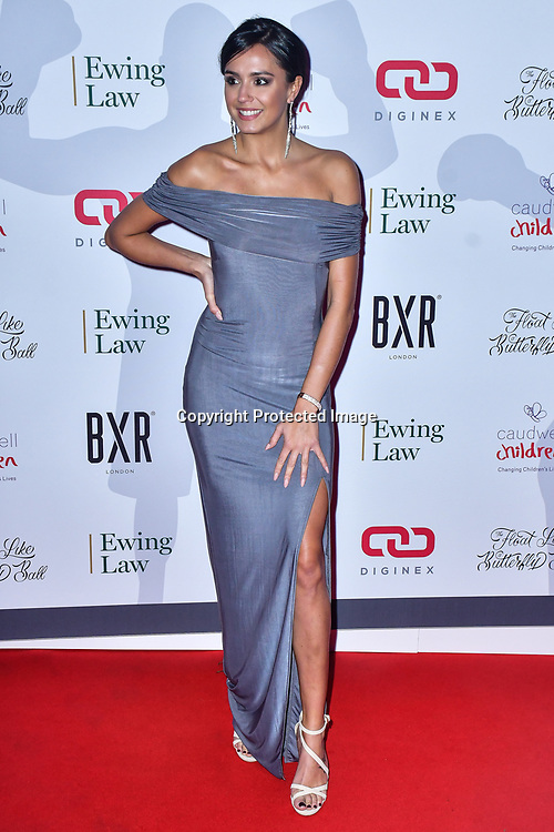 Tyla Carr arrive at Float Like A Butterfly Ball for Caudwell Children Charity at Grosvenor House Hotel on 16 November 2019, London, UK.