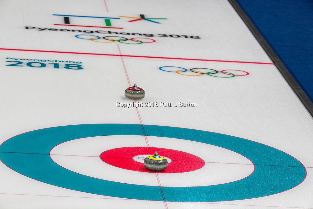 Curling sheet at the Olympic Winter Games PyeongChang 2018