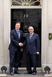 © Licensed to London News Pictures. 17/09/2013. London, UK. The British Prime Minister David Cameron meets with the Libyan Prime Minister Ali Zeidan on Downing Street in London today (17/09/2013). Photo credit: Matt Cetti-Roberts/LNP