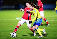 Fotball , 30. oktober 2013 , Privat kamp kvinner U23 , Norge- Sverige<br /> U23 Norway - Sweden<br /> Hege Hansen , Norge<br /> Elin Landström , Sverige