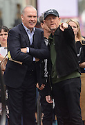 RON HOWARD + MICHAEL KEATON at his second Walk of Fame ceremony held @ 6931 Hollywood blvd. December 10, 2015<br /> ©Exclusivepix Media