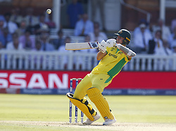 June 29, 2019 - London, United Kingdom - Pat Cummins of Australia.during ICC Cricket World Cup between New Zealand and Australia at the Lord's Ground on 29 June 2019 in London, England. (Credit Image: © Action Foto Sport/NurPhoto via ZUMA Press)