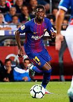 BARCELONA -September 09- SPAIN:  Ousmane Dembele during the match between FC Barcelona and RCD Espanyol played at the Camp Nou, on august 17, 2017.<br /> Norway only