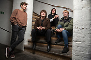 The Zangwills, a UK based indie rock band from Cheshire. The band members are (left to right): Ed Dowling (bass), Jake Vickers (vocals & guitar), Sam Davies (lead guitar), Adam 'Spence (drums).<br /> Photo©Steve Forrest/Workers' Photos