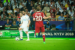 Dani Carvajal of Real Madrid during the UEFA Champions League final football match between Liverpool and Real Madrid at the Olympic Stadium in Kiev, Ukraine on May 26, 2018.Photo by Sandi Fiser / Sportida