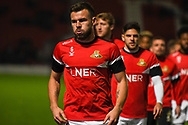 Andrew Butler of Doncaster Rovers (6) warming up during the EFL Sky Bet League 1 match between Doncaster Rovers and Sunderland at the Keepmoat Stadium, Doncaster, England on 23 October 2018.