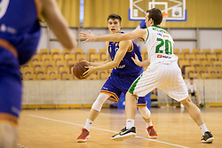 Nejc Klavzar of KK Helios Suns during basketball match between KK Petrol Olimpija and KK Helios Suns in Playoffs of Liga Nova KBM 2017/18, on April 25, 2018 in Tivoli sports hall, Ljubljana, Slovenia. Photo by Urban Urbanc / Sportida