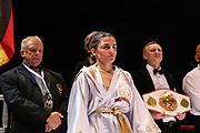 Boxen: WIBF-, GBU-, WBU-Weltmeisterschaft, Fliegengewicht, Susi Kentikian (GER) - Nevenka Mikulic (CRO), Hamburg, 30.07.2016<br /> © Torsten Helmke
