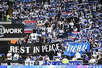 Football - 2018 / 2019 Premier League - Cardiff City vs. Leicester City<br /> <br /> rip flag in Leicster's 1st match since the death of Vichai Srivaddhanaprabha, at Cardiff City Stadium.<br /> <br /> COLORSPORT/WINSTON BYNORTH