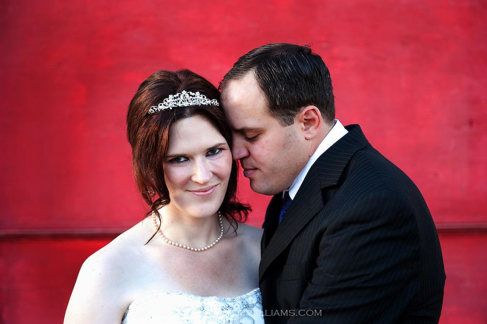 A bride and groom portrait in Sacramento, California