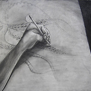 """23"""" x 30"""",<br /> Charcoal on paper,<br /> 2011"""