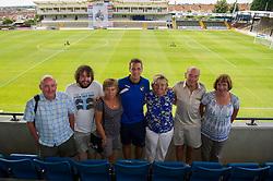 Bristol Rovers' Lee Brown has his photo taken with fans - Photo mandatory by-line: Dougie Allward/JMP - Mobile: 07966 386802 27/07/2014 - SPORT - FOOTBALL - Bristol - Bristol Rovers - - Memorial Stadium - Fun Day