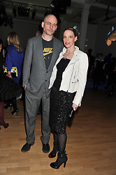 DINOS CHAPMAN and TIPHAINE DE LUSSY  at the Swarovski Whitechapel Gallery Art Plus Fashion fundraising gala in support of the gallery's education fund held at The Whitechapel Gallery, 77-82 Whitechapel High Street, London E1 on 14th March 2013