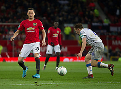 Nemanja Matic of Manchester United (L) in action - Mandatory by-line: Jack Phillips/JMP - 18/12/2019 - FOOTBALL - Old Trafford - Manchester, England - Manchester United v Colchester United - English League Cup Quarter Final