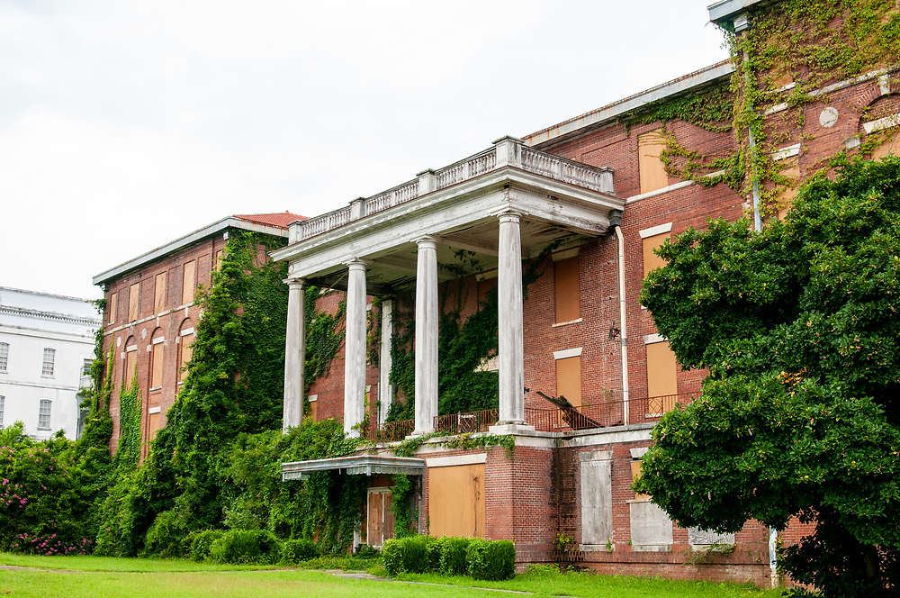 The Brantley Building at Central State Hospital in Milledgeville, Georgia on Sunday, July 18, 2021. Copyright 2021 Jason Barnette