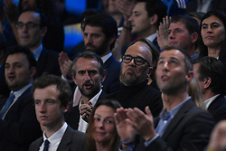 Pascal Obispo and Jean Claude Blanc during 25th IHF men's world championship 2017 match between France and Slovenia at Accord hotel Arena on january 26 2017 in Paris. France. PHOTO: CHRISTOPHE SAIDI / SIPA / Sportida