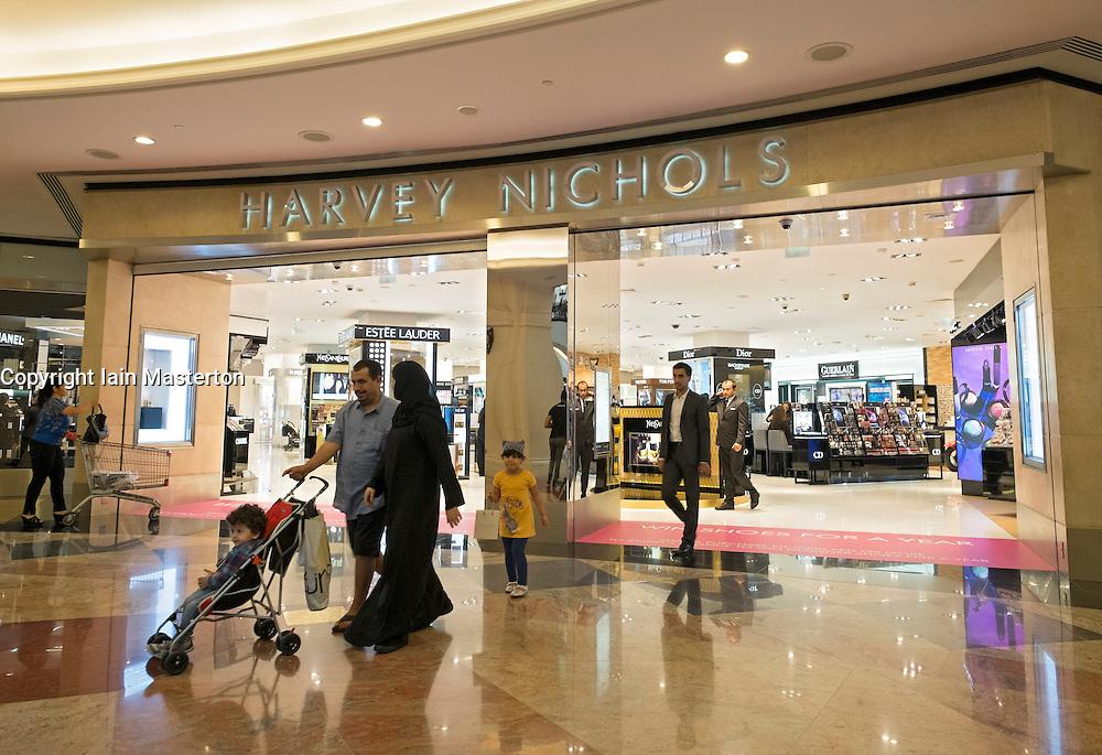 Harvey Nichols store at Mall of the Emirates shopping centre in Dubai United Arab Emirates