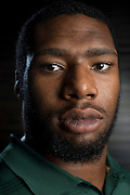 DALLAS, TX - JULY 21:  Baylor defensive end Shawn Oakman poses for a portrait during the Big 12 Media Day on July 21, 2014 at the Omni Hotel in Dallas, Texas.  (Photo by Cooper Neill/Getty Images) *** Local Caption *** Shawn Oakman