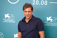 Venice, Italy, 31st August 2019, Adriano Giannini at the photocall for the film Vivere (To Live) at the 76th Venice Film Festival, Sala Grande. Credit: Doreen Kennedy/Alamy Live News