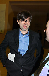Writer MATT THORNE at a the Orion Publishing Group Author Party and a private view of the 'Turner Whistler Monet' exhibition at Tate Britain, Atterbury Street, London SW1 on 23rd February 2005.<br /><br />NON EXCLUSIVE - WORLD RIGHTS