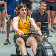 4:20 PM- Grassroots Trust #40 Heat 1- Men?s 500m U17<br /> <br /> NZ Indoor Champs, raced at Avanti Drome, Cambridge, New Zealand, Saturday 23rd November 2019 © Copyright Steve McArthur / @rowingcelebration www.rowingcelebration.com