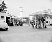 ackroyd 00887-2. Al & Morry Chevron Station, 5141 SE Woodstock, Portland Oregon, August 13, 1948