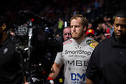DALLAS, TX - MARCH 14:  Jared Rosholt walks to the octagon to fight Josh Copeland at UFC 185 at the American Airlines Center on March 14, 2015 in Dallas, Texas. (Photo by Cooper Neill/Zuffa LLC/Zuffa LLC via Getty Images) *** Local Caption *** Jared Rosholt