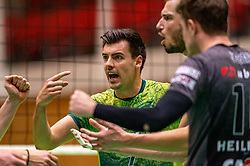 Stijn Held of Orion of Orion in action during the semi cupfinal between Active Living Orion vs. Amysoft Lycurgus on April 03, 2021 in Saza Topsportshall Doetinchem