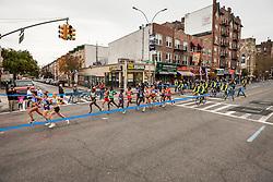 lead pack elite women apx. mile 4 in Brooklyn