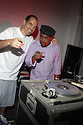 l to r: Bobbito aka Cucumber Slice and DJ Spinna at The 11th Annual Tribute to the Wonders of Stevie, Wonderfull Party on May 16, 2009 held at BK Studio Lofts in Brooklyn, NY..The Annual Tribute to The Legendary Stevie Wonder, The Wonderfull Party produced by Keistar Productions with the sought after music producer duo, DJ Spinna and Bobbito aka Cucumber Slice rock the house in Brooklyn, NY. The BK Studio Lofts were packed to the rafters will Stevie Wonder fans, who were soulfully delighted with the customed designed sounds of Spinna and Bobbito, who subjected the crowds to a variety of Stevie Wonder written imprints and vocally driven tracks that have covered the span of the singers' career. What a beautiful way to begin your summer!