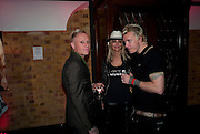 KEITH FLINT OF PRODIGY; All Saints singer Natalie Appleton;her husband Liam Howlett, of The Prodigy, Kerrang Awards 2009. Whitbread Brewery. Chiswell st. London. 3 August 2009.