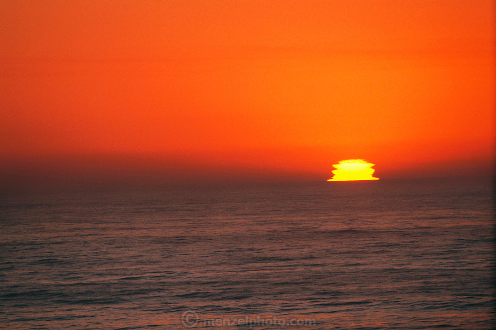 Sunset over the Pacific Ocean seen from Mendocino, California. USA.