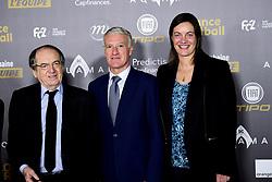 December 3, 2018 - Paris, France, France - Noel Le Graet - president FFF.Didier Deschamps - entraineur de l equipe de France Masculine.Corinne Diacre - entraineur de l equipe de France Feminine (Credit Image: © Panoramic via ZUMA Press)