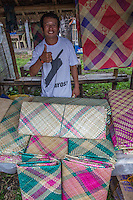 Woven Mats at Malatapay Market - Wednesdays at Malatapay Market are always abuzz with activity. It is a place where livestock growers, local farmers and fishermen converge to sell their fresh produce. It is a whole day fair for the townspeople, shoppers and visitors. Locals from neighboring towns also take part in the market day.  Malatapay provides an experience of the traditional Filipino barter system because the locals trade goods within themselves and with vendors who hail from the nearby Apo Island and those who live in the next towns. On other days, Malatapay is an oddly quiet place with not even a hint of activity going on. The market's exclusive mid week only schedule always makes it something to look forward to for everybody.