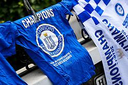 Champion tshirt outside the stadium to celebrate Chelsea's 2016/17 Premier League win - Rogan Thomson/JMP - 21/05/2017 - FOOTBALL - Stamford Bridge - London, England - Chelsea v Sunderland - Premier League..