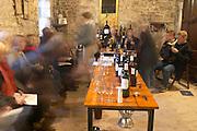 visitors in the tasting room Chateau Belingard Bergerac Dordogne France