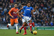 Portsmouth Defender, Nathan Thompson (20) during the EFL Sky Bet League 1 match between Portsmouth and Northampton Town at Fratton Park, Portsmouth, England on 30 December 2017. Photo by Adam Rivers.