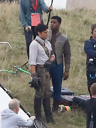 EXCLUSIVE: **PREMIUM RATES APPLY** **NO WEB UNTIL 5PM GMT 24TH AUGUST** First look at Star Wars 9 as John Boyega and Oscar Isaac are pictured filming with Chewbacca at secret location in the UK. 24 Aug 2018 Pictured: **PREMIUM RATES APPLY** **NO WEB UNTIL 5PM GMT 24TH AUGUST** First look at Star Wars 9 as John Boyega and Oscar Isaac are pictured filming with Chewbacca at secret location in the UK. Photo credit: ISOIMAGES LTD / MEGA TheMegaAgency.com +1 888 505 6342