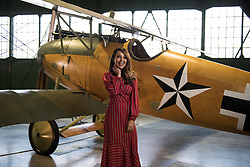 © Licensed to London News Pictures. 21/11/2018. London, UK.  <br /> TV presenter and Strictly Come Dancing star Katie Piper poses for a photograph in front of an Albatross D.Va aircraft in the Royal Air Force Museum London to launch the National Lottery's Thanks To You campaign in London, England on November 21, 2018. The Thanks To You promotion which runs from December 3 until December 9 sees venues, which have received Lottery funding, offering free offers and/or free entry to people in possession of a National Lottery ticket. Some of the UK's best-loved venues will be taking part, including: the Natural History Museum, Science Museum, Kew Gardens, Eden Project, Jodrell Bank, the National Railway Museum, V&A Dundee, National Museum Wales and over 100 National Trust sites.  Photo credit: Oli Scarff/LNP