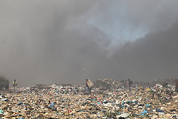 South Africa - Durban - 21 July 2020 - Mushroom shaped, thick smoke coming out from the dump site in Pietermaritzburg after a fire broke out in the area<br /> Picture: Doctor Ngcobo/African News Agency(ANA)
