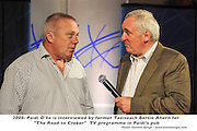 """Former Taoiseach Bertie Ahern pictured with Kerry football legend Paidi O'Se during a rehearsal for  """"The Road to Croker"""" sports TV programme in Paidi O'Se's Pub ,Ventry , Co. Kerry on Wednesday. Mr Ahern is a guest presenter of the programme that will be aired on RTE on Thursday night.Picture: Eamonn Keogh (MacMonagle, Killarney)"""