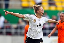07-06-2011 VOETBAL: DUITSLAND - NEDERLAND: AACHEN<br /> Torjubel / Jubel Kim Kulig (Deutschland, Hamburg) nach dem 4:0 // during the WM 2012 Friendly Game Germany vs Netherland at Tivoli Aachen <br /> *** NETHERLANDS ONLY ***<br /> ©2011-FotoHoogendoorn.nl/ nph / Mueller