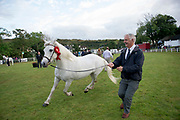 17/08/2017 Noel Sweeney with Poise Melody Supreme Champion  at the Connemara Pony Show in Clifden. Photo:Andrew Downes, xposure