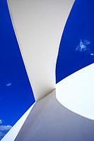 architecture detail of the futuristic national museum of brasilia city